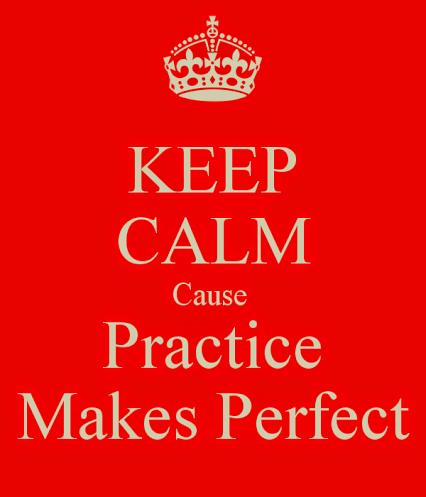 Practice, practice and practice.