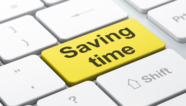 Saving time by typing faster